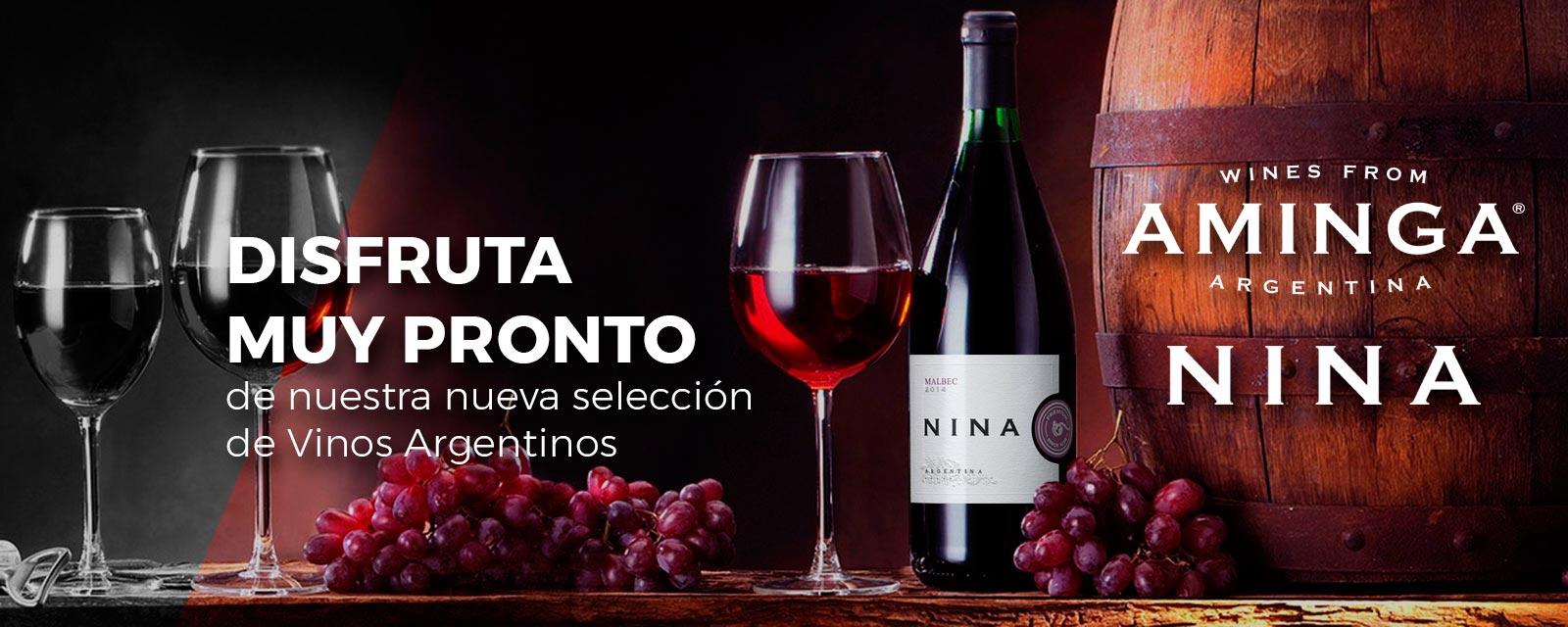 Nueva selección de vinos argentinos Nina y Aminga